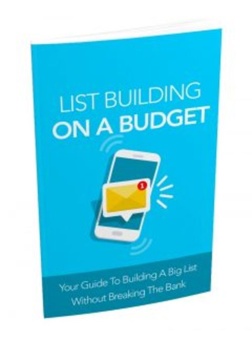 Product picture List Building On A Budget MRR Ebook
